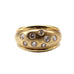 Domed .50 TCW SI/I Diamond 18k Yellow Gold Estate Ring Size 7.25
