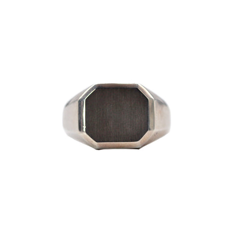 Men's Signet Ring - Silverscape Designs