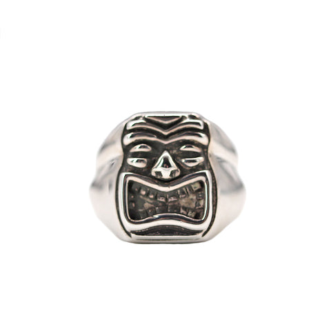Men's Tiki Ring - Silverscape Designs