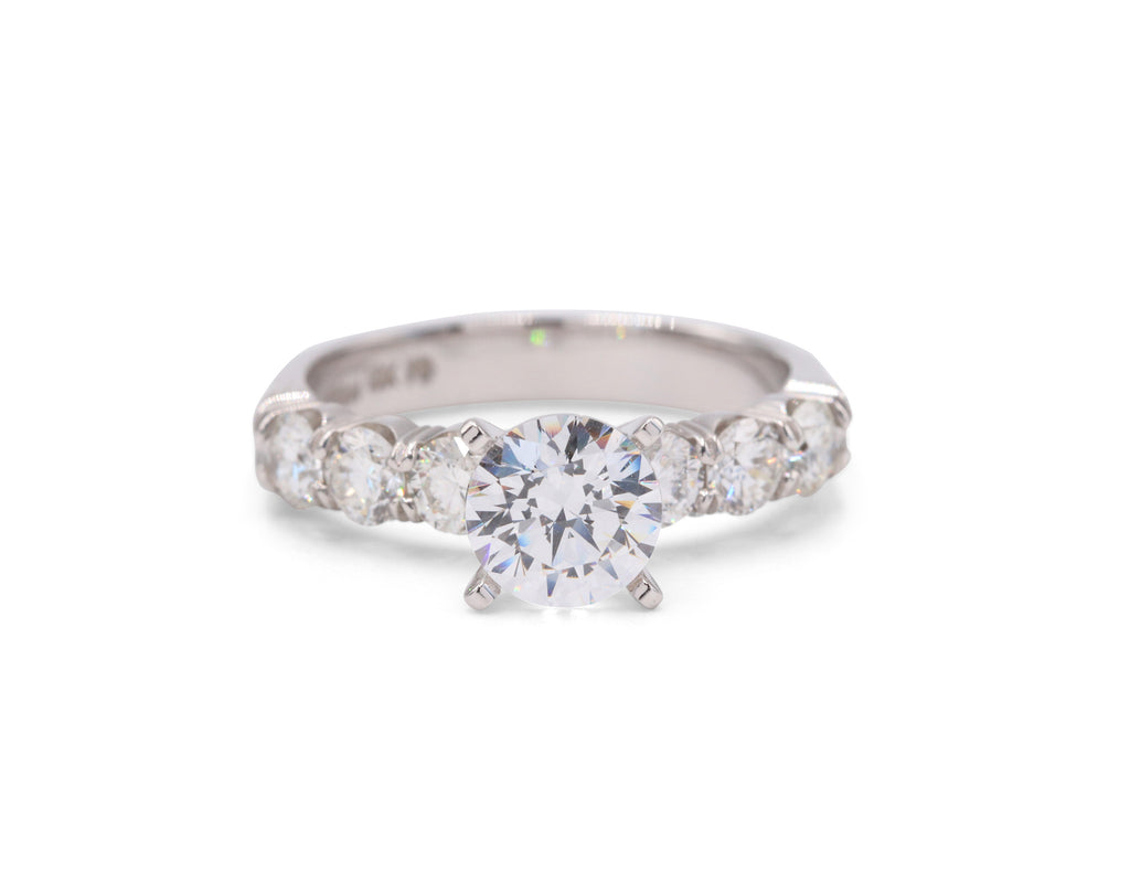 Two-Toned (white gold/Platinum) Engagement Ring - Silverscape Designs