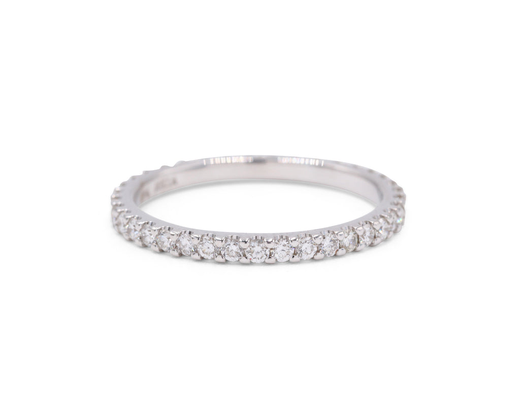 Thin White Gold Band (.57 carat tw) - Silverscape Designs