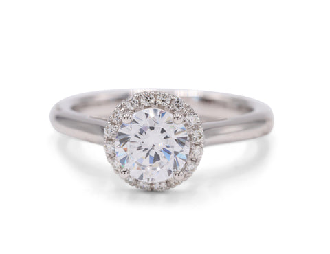 Ideal Surroundings Engagement Ring - Silverscape Designs