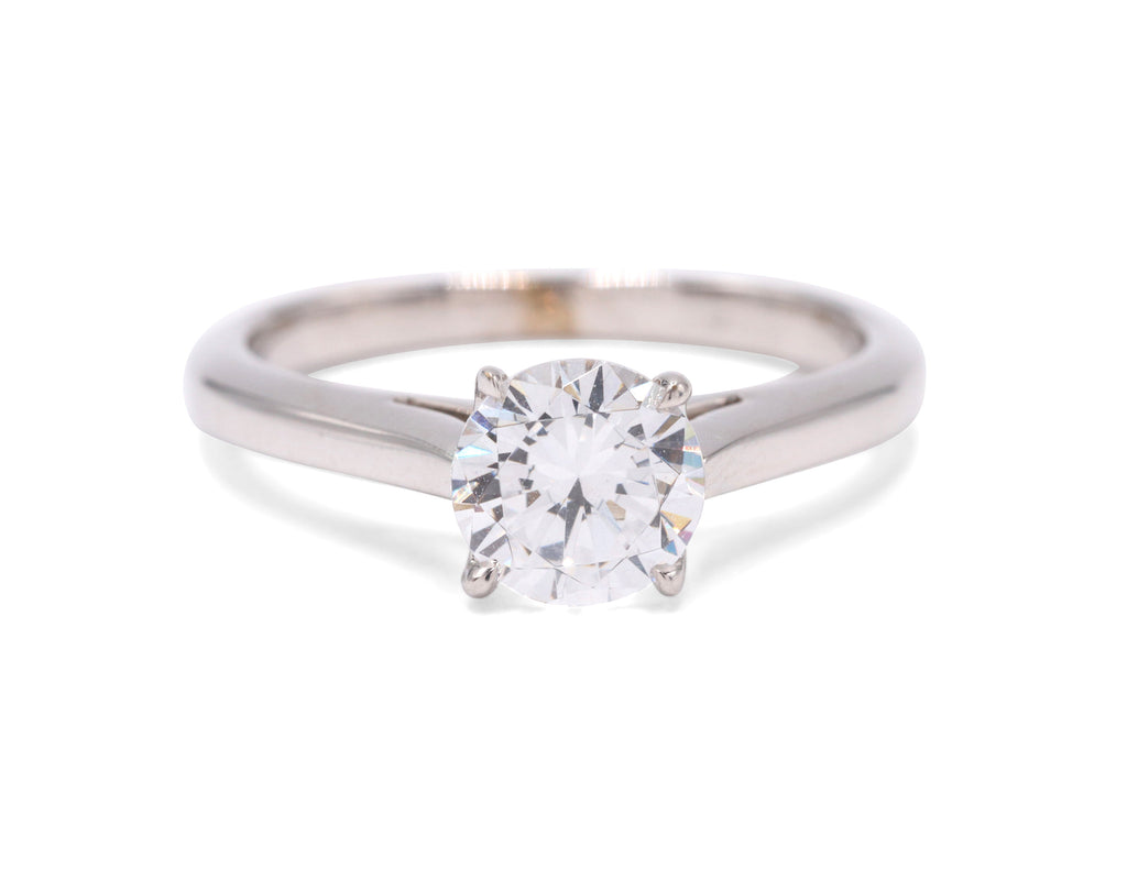 Divine Scroll Engagement Ring - Silverscape Designs