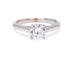 Lazare Divine Scroll 18k White Gold Engagement Ring