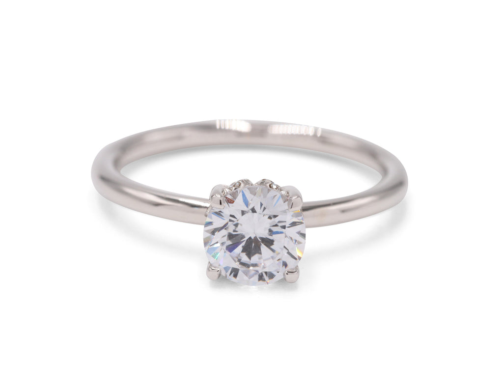 Solitaire Diamond Mounting Engagement Ring - Silverscape Designs