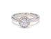 Classic Diamond White Gold Halo Engagement Ring - Silverscape Designs