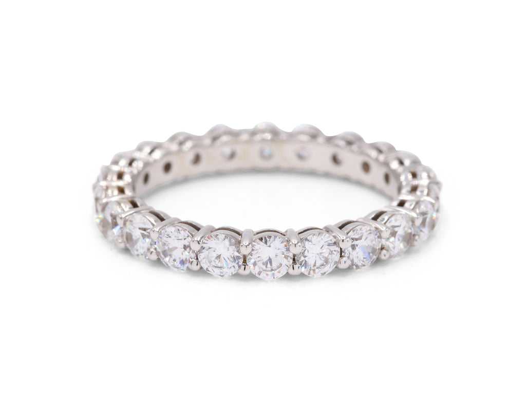 Diamond White Gold Eternity Wedding Band - Silverscape Designs