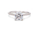 Asscher Cut With Accent Diamonds White Gold Solitaire Engagement Ring - Silverscape Designs