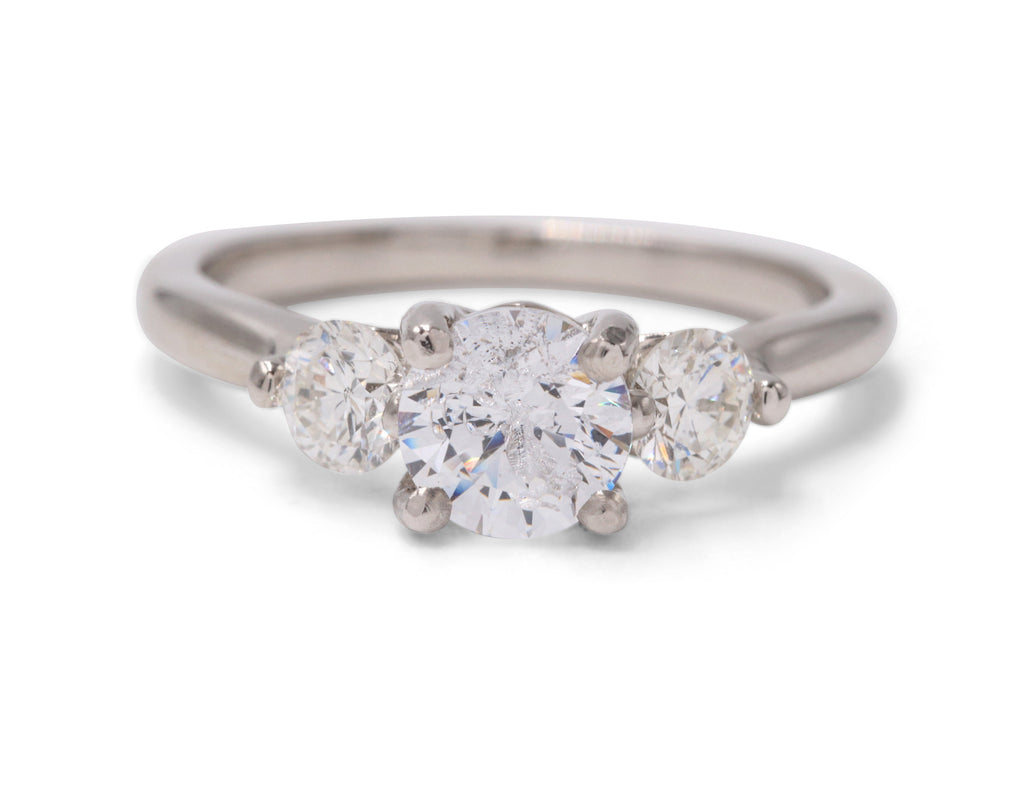Sasha Primak Classic Three Stone 14k Platinum Engagement Ring