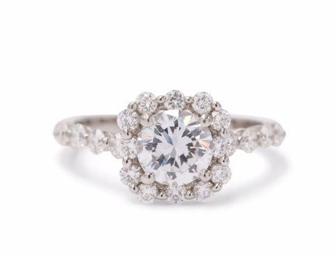 Sasha Primak Cushion Halo Engagement Ring