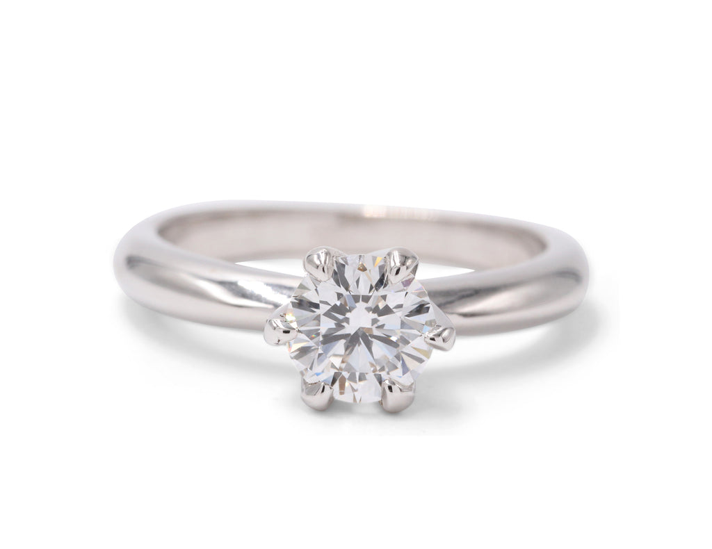 Diamond White Gold Classic Solitaire Engagement Ring - Silverscape Designs