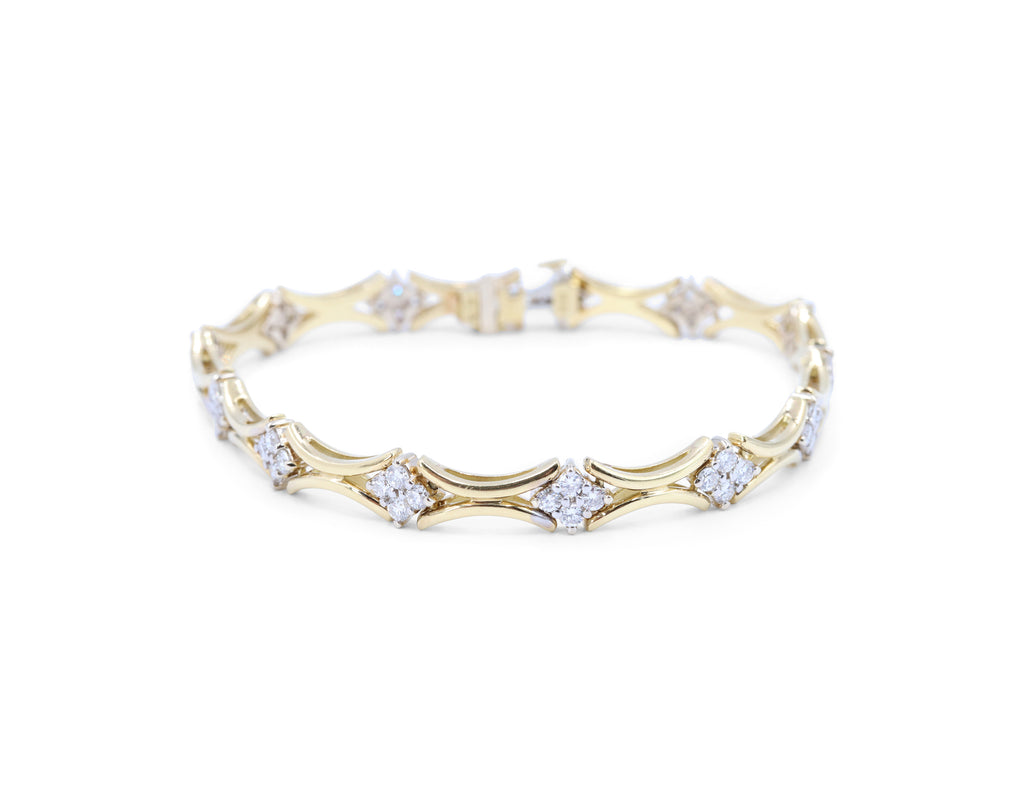 Estate Diamond Bracelet 2.00 Ct TW