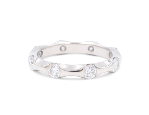 Estate Platinum 8 Diamond .80 TCW Eternity Wedding Band