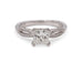 EstatePlatinum .70 carat SI1, H Princess Cut Diamond Engagement Ring