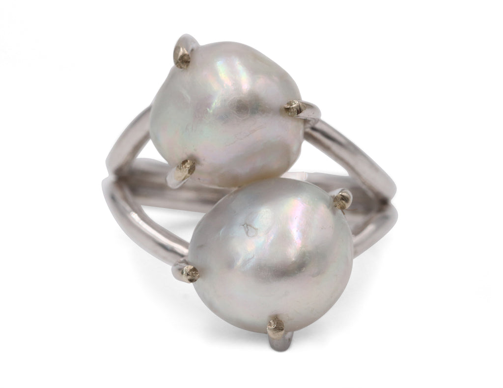 Estate Double Pearl Ring