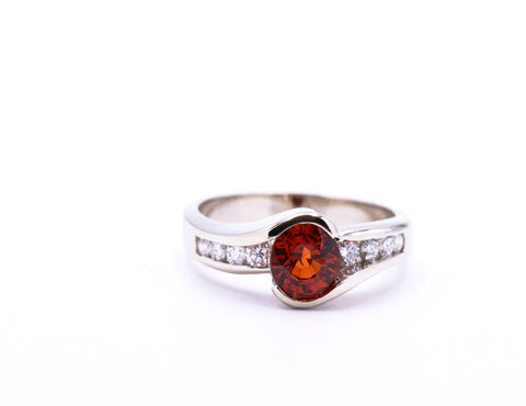 Spessartite Garnet Ring - Silverscape Designs