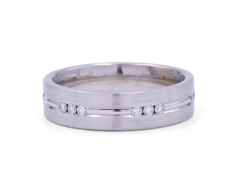 Benchmark 6 mm Diamond Station Men's Band