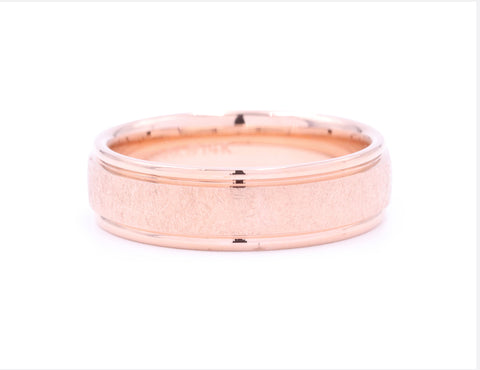 Benchmark Rose Gold Round Edge Men's Band