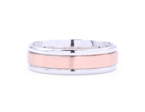 Benchmark Satin Rose Gold Men's Band