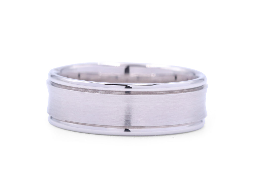Benchmark 7.5 mm Long Concave Men's Band