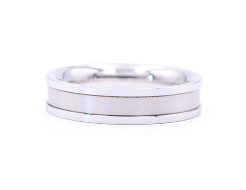Christian Bauer Men's White Gold Band - Silverscape Designs