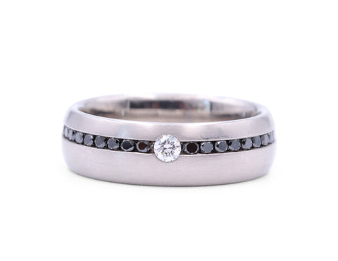 Christian Bauer Black Diamond Band - Silverscape Designs