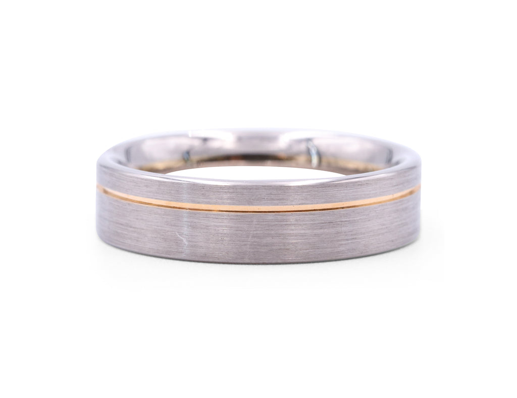 Christian Bauer Rose Gold Line Men's Band - Silverscape Designs