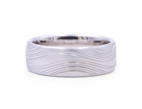 Christian Bauer Matte Wave Men's Band - Silverscape Designs