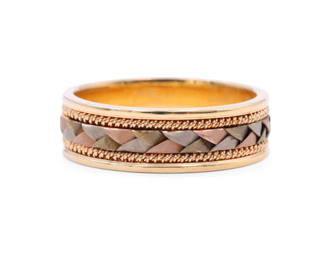 Samuel Jewels Tri-Colored Braided Band