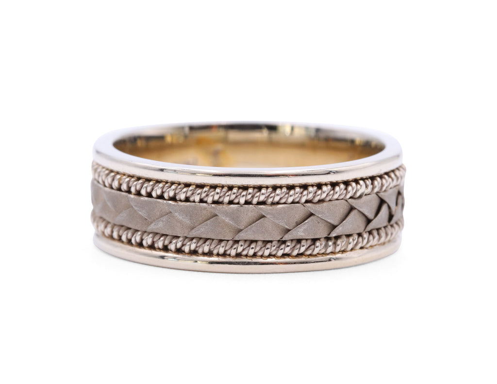 Samuel Jewels White Gold Braided Band