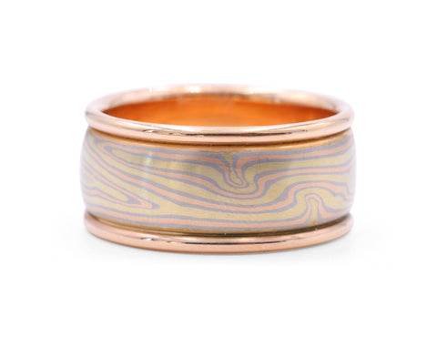 George Sawyer Mokume Wide Organic Band