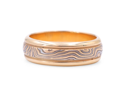 George Sawyer Gold  Mokume Band