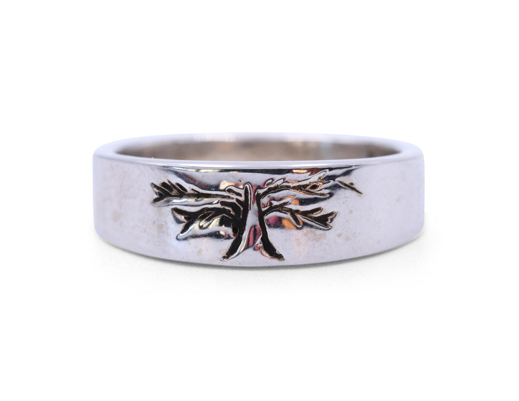 DP White Gold Tree of Life Band - Silverscape Designs
