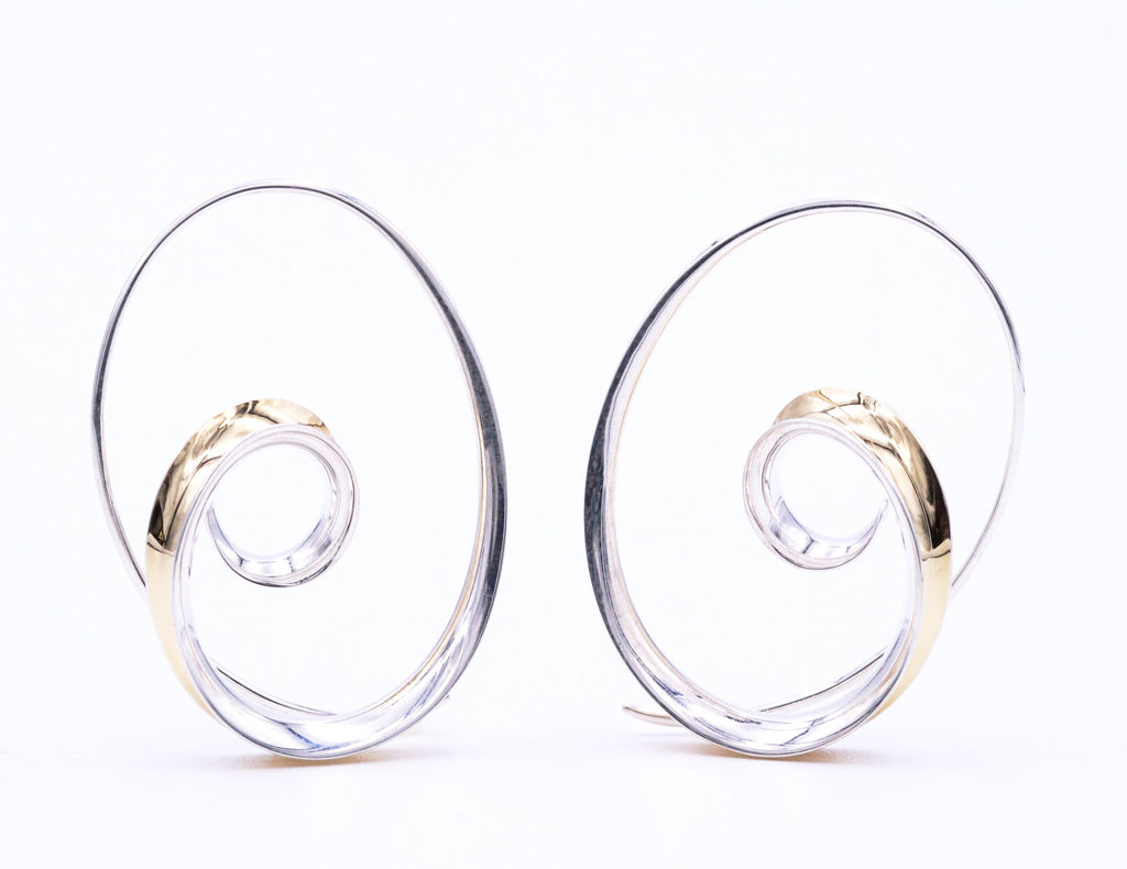 Nancy Linkin  Spiral Earrings - Silverscape Designs