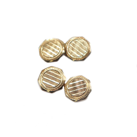Art Deco 14k Gold Cuff Links - Silverscape Designs