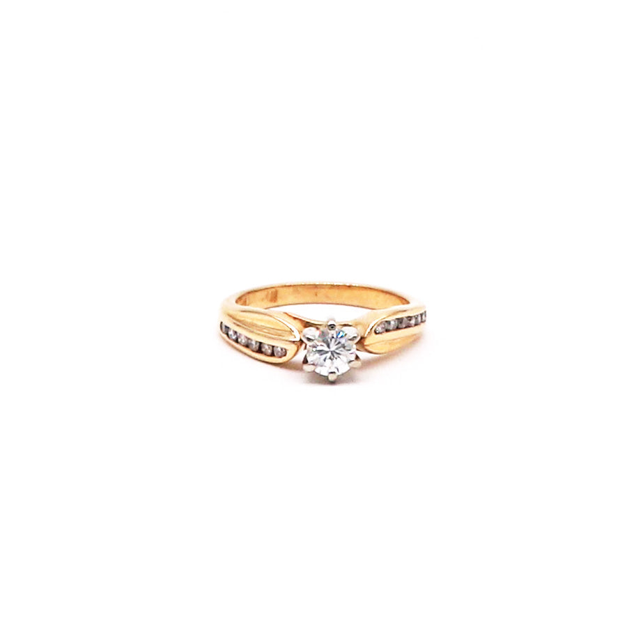 Estate Diamond Engagement Ring In 14k Yellow Gold - Silverscape Designs