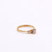 Estate Diamond with Baggutte Diamond Side Stones Yellow Gold Ring
