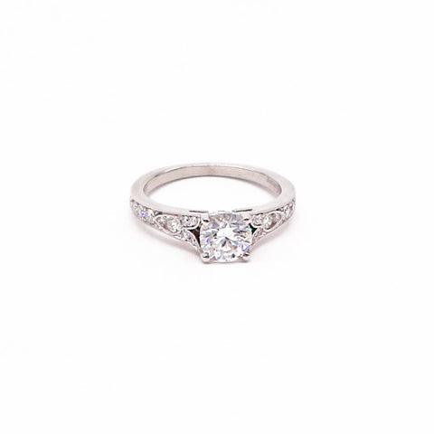 Stunning 14KW Vintage Inspired Diamond Engagement Ring. - Silverscape Designs