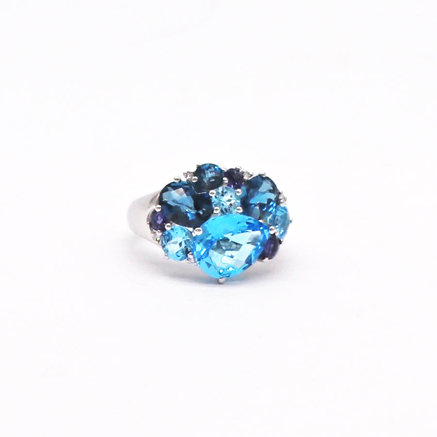 PeJay Creations Multi-Stone Cluster Ring