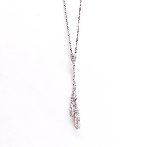 Pejay Creations Pave Diamond Encrusted White Gold Pendant