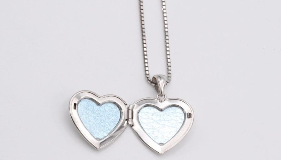 White Gold Heart Locket - Silverscape Designs