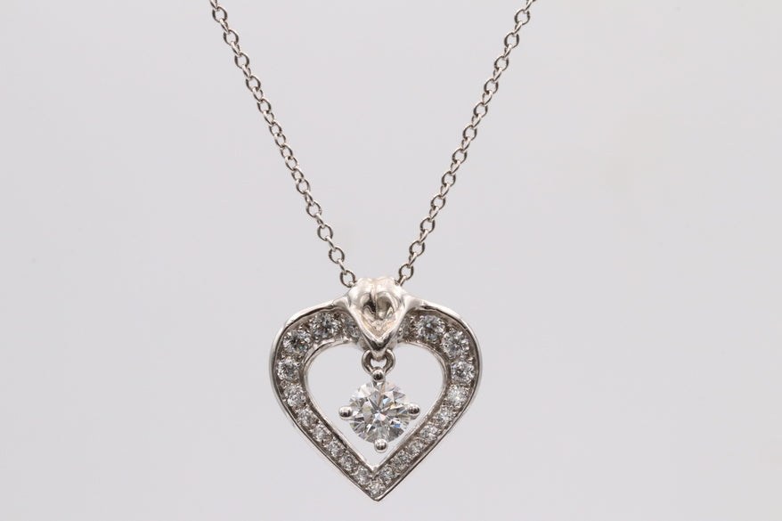 Lazare Floating Heart Diamond Necklace