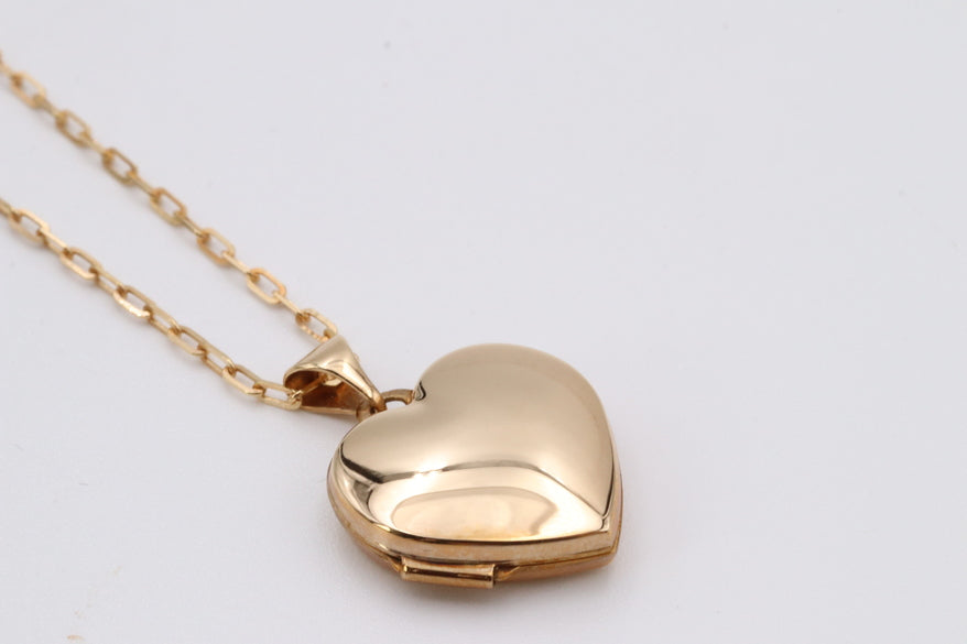 Yellow Gold Heart Locket