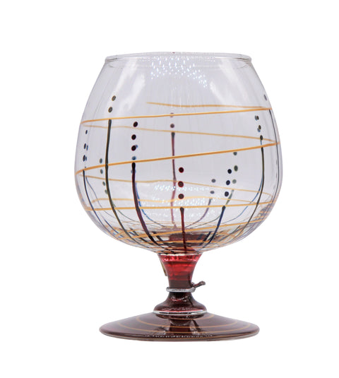 Mindy Sands Hand Painted Brandy Snifter Glass