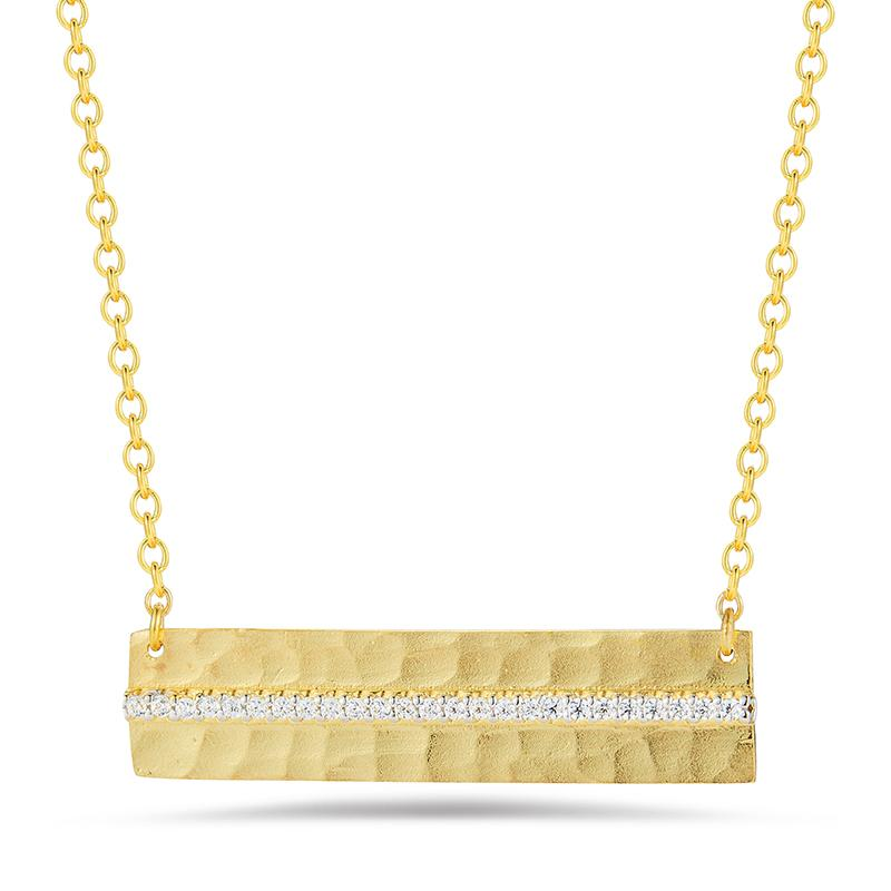 14 Karat Yellow Gold East to West Necklace