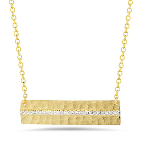 14 Karat Yellow Gold East to West Necklace - Silverscape Designs