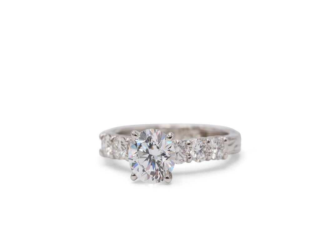 Heirloom Collection Simple Engagement Ring - Silverscape Designs