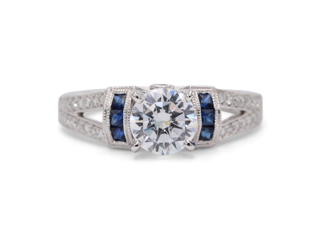 Heirloom Collection Sapphire Engagement Ring - Silverscape Designs