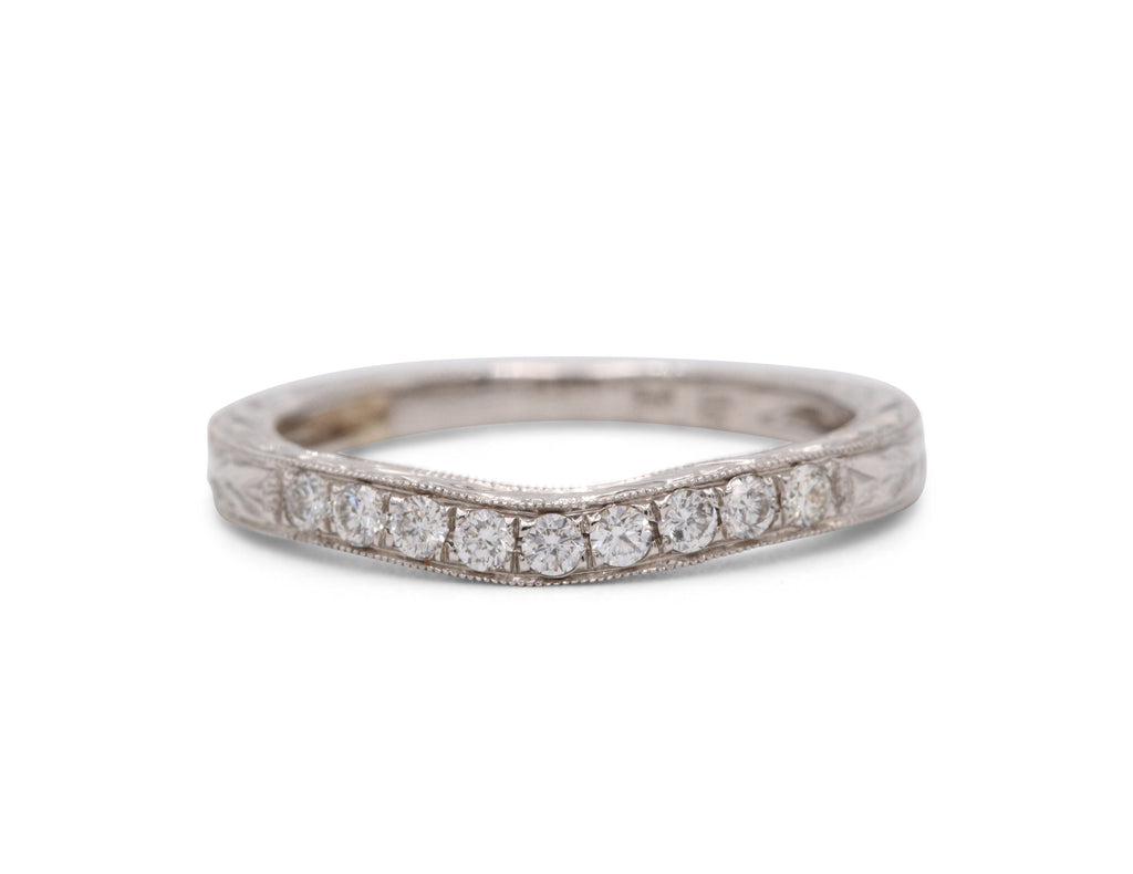 Heirloom Collection Vintage Inspired Wedding Band - Silverscape Designs