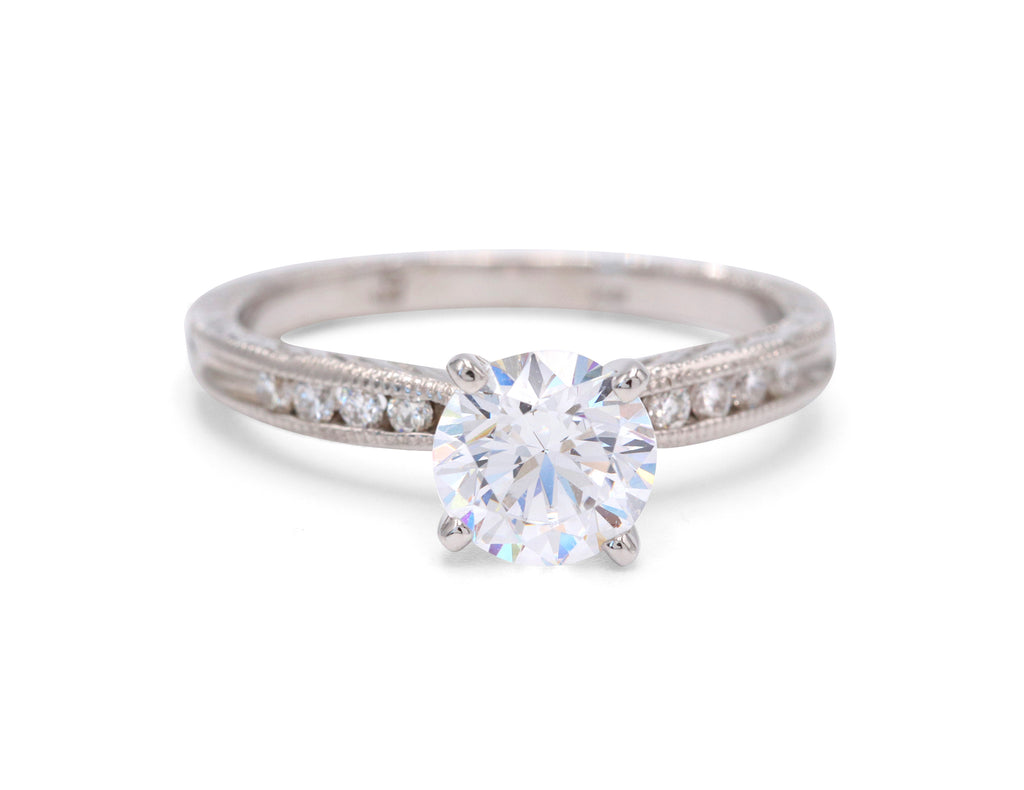 Heirloom Collection Solitaire Engagement Ring - Silverscape Designs